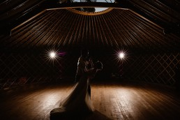 first dance inside the thorpe garden yurt
