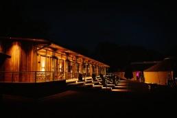 thorpe garden at night