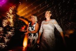 dance floor at thorpe garden wedding