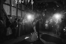 first dance at barns and yard wedding