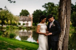 stunning wedding portraits taken at barns and yard wedding venue