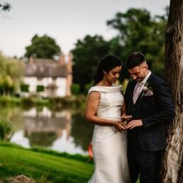 stunning wedding portraits taken at barns and yard wedding venue